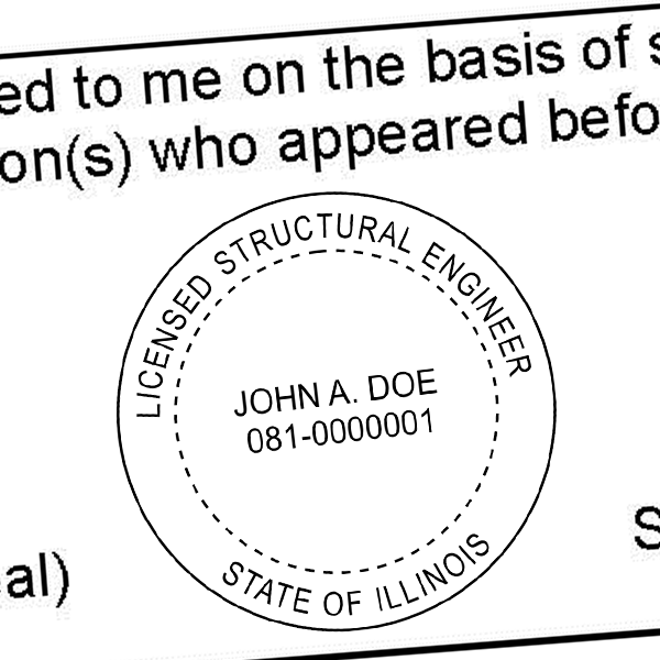 State of Illinois Structural Engineer Seal Imprint