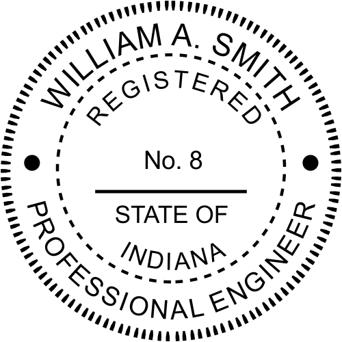Indiana Engineer Stamp Seal