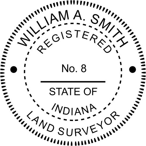 Indiana Land Surveyor Stamp Seal