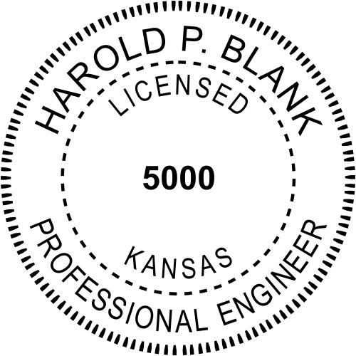 Kansas Engineer Stamp Seal