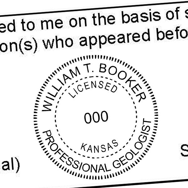 State of Kansas Geologist Seal Imprint
