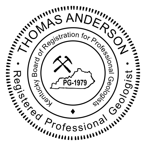 State of Kentucky Geologist Seal Imprint