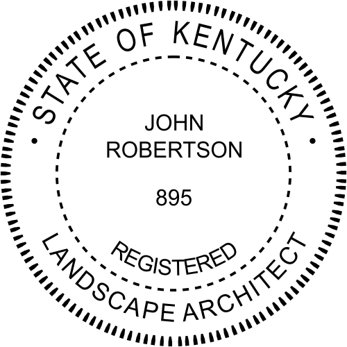 Kentucky Landscape Architect Stamp Seal