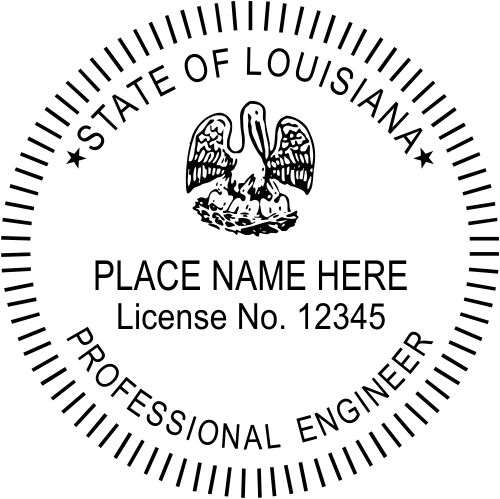 Louisiana Engineer Stamp Seal
