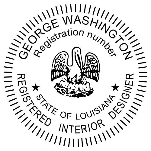 Louisiana Interior Designer Seal