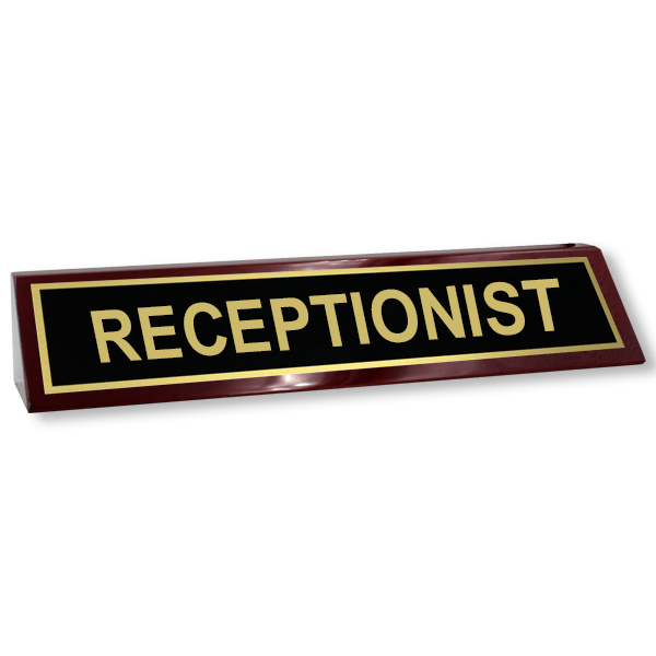 Receptionist Wood Desk Block (Rosewood)
