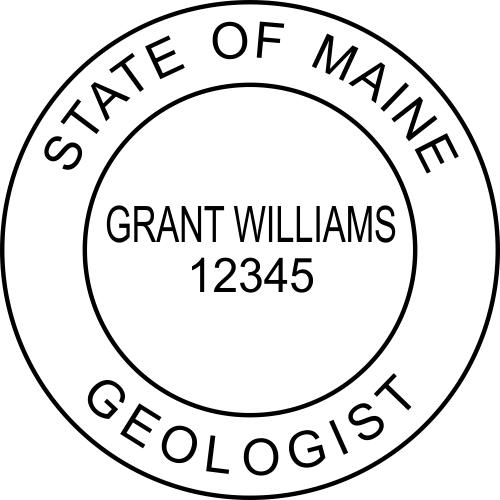 Maine Geologist Stamp