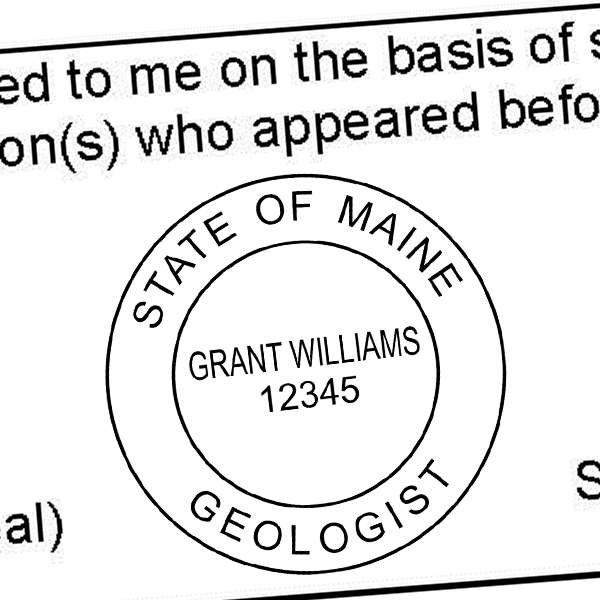 State of Maine Geologist Seal Imprint