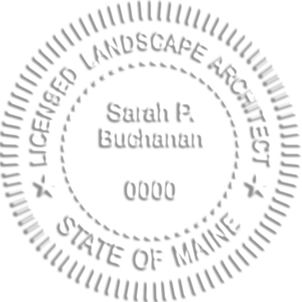 State of Maine Landscape Architect Embossed Impression