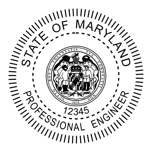 State of Maryland Engineer Seal Seal Body and Imprint