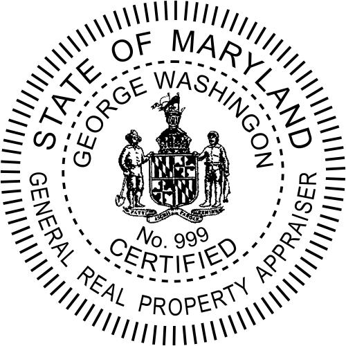 Maryland General Appraiser Stamp Seal