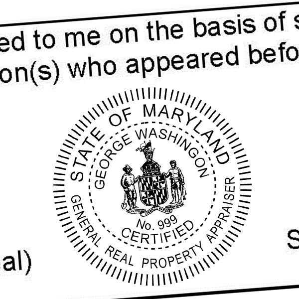 State of Maryland General Appraiser Seal Imprint