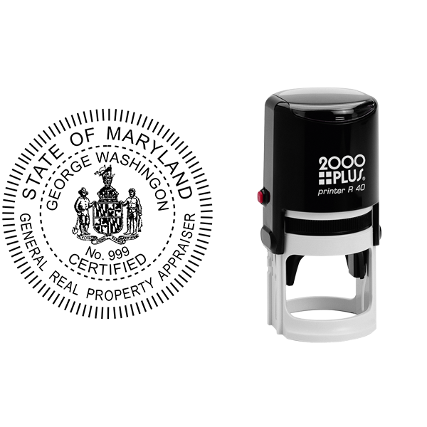 State of Maryland General Appraiser Seal Body and Imprint