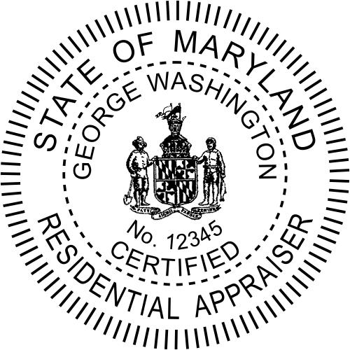 Maryland Residential Real Estate Appraiser Stamp Seal