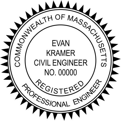 Massachusetts Engineer Stamp Seal