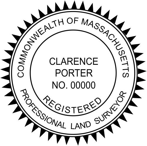 Massachusetts Land Surveyor Stamp