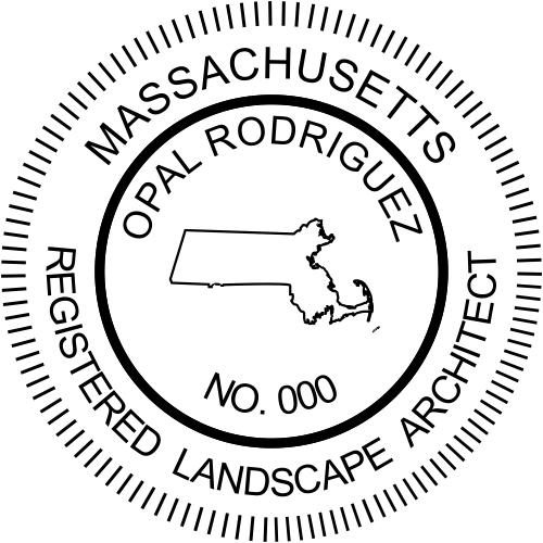 Massachusetts Landscape Architect Stamp