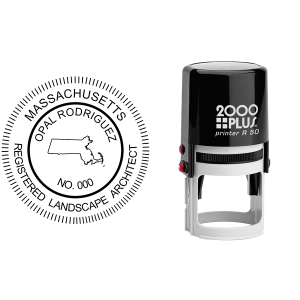 State of Massachusetts Landscape Architect Seal Body and Imprint