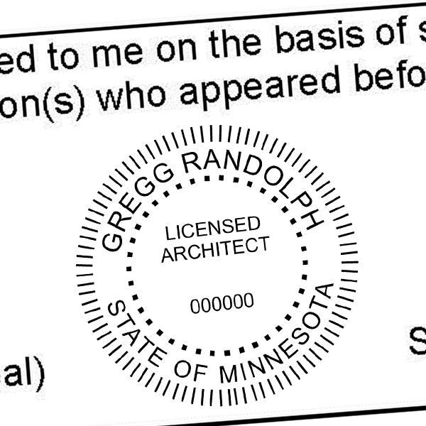 State of Minnesota Architect Seal Imprint