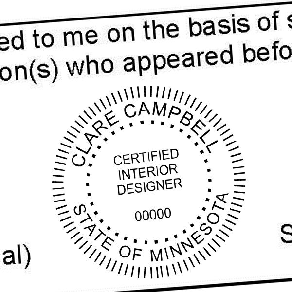 State of Minnesota Interior Designer Seal Imprint