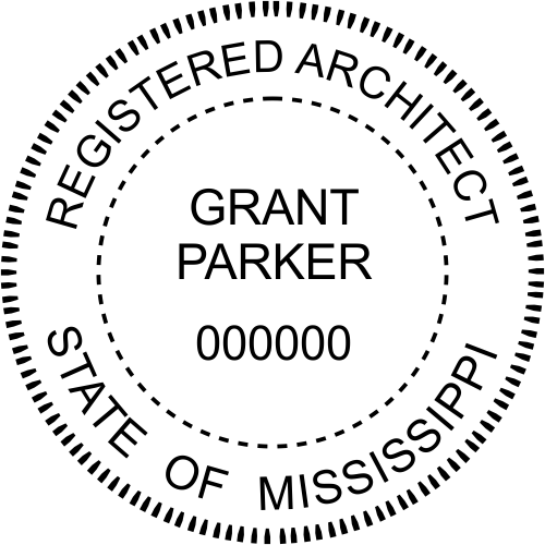 State of Mississippi Architect Seal