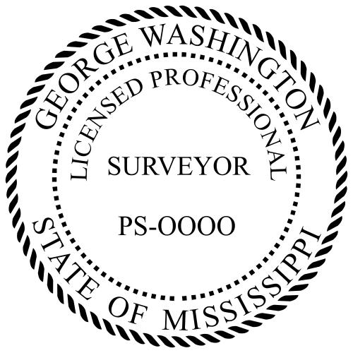 Mississippi Surveyor Stamp Seal