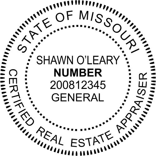Missouri Appraiser Stamp Seal