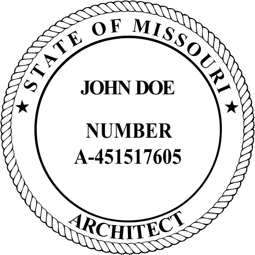 Missouri Architect Stamp Seal