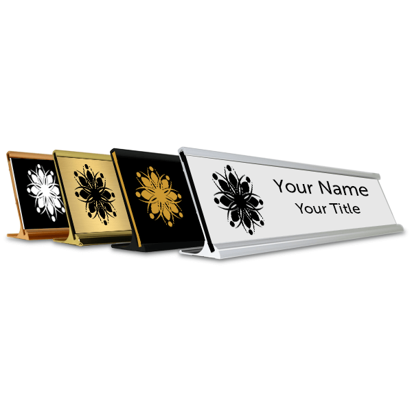"Traditional 2"" x 12"" Desk Nameplate - Engraved"
