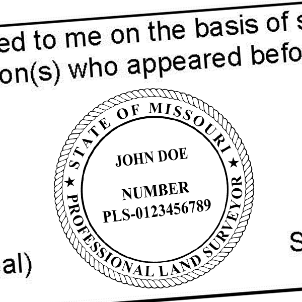 State of Missouri Surveyor Seal Imprint