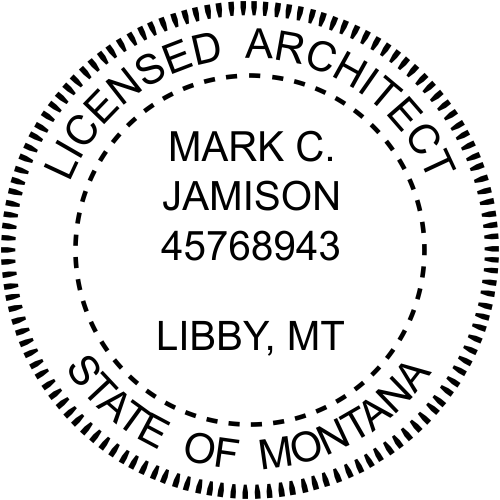 Montana Architect Stamp