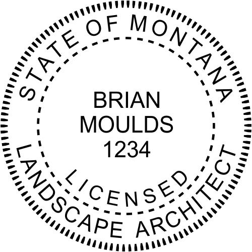 State of Montana Landscape Architect Milled Border