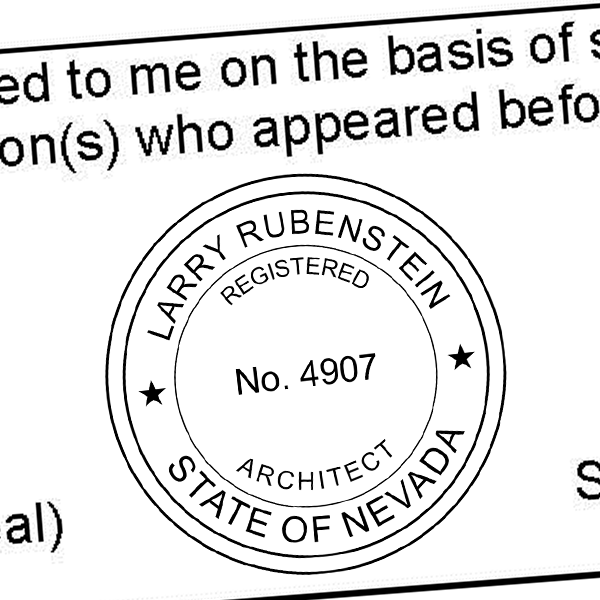 State of Nevada Architect Seal Imprint