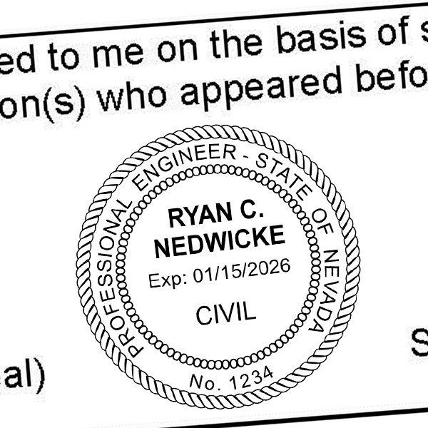 State of Nevada Engineer Seal Imprint