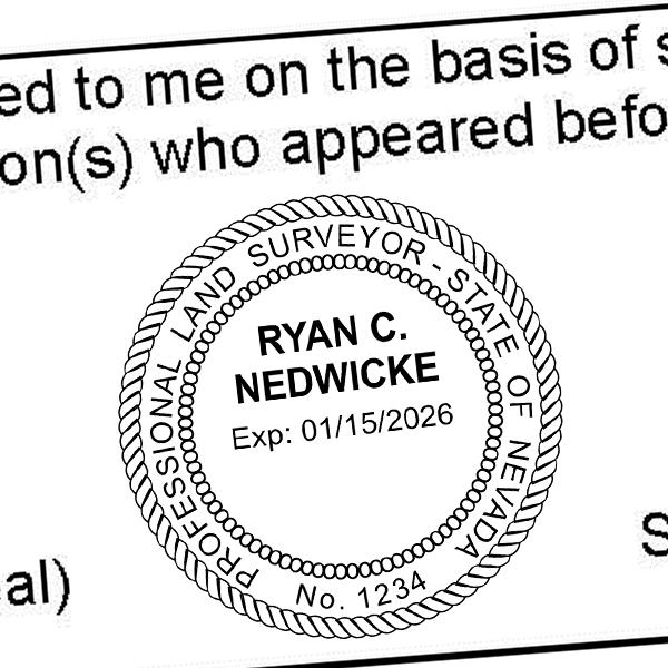 State of Nevada Land Surveyor Seal Imprint
