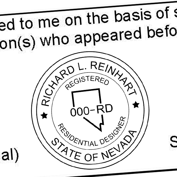 State of Nevada Residential Interior Designer Seal Imprint