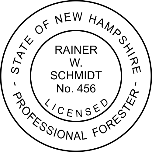 New Hampshire Forester Stamp Seal
