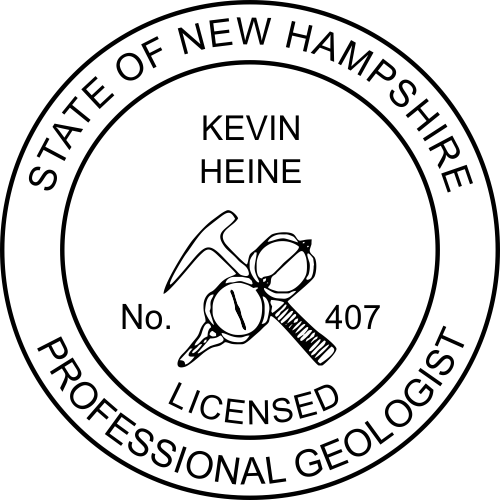 New Hampshire Geologist Stamp Seal