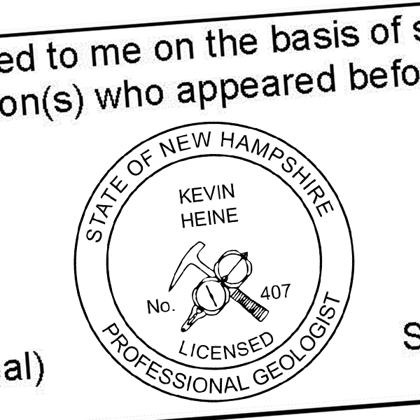 State of New Hampshire Geologist Seal Imprint