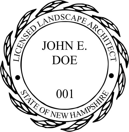 New Hampshire Landscape Architect Stamp Seal