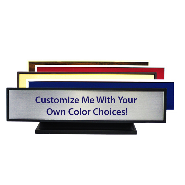 Large Full Color Desk Plate with Optional Logo