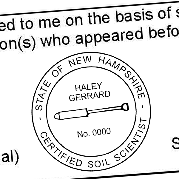 State of New Hampshire Soil Scientist Seal Imprint