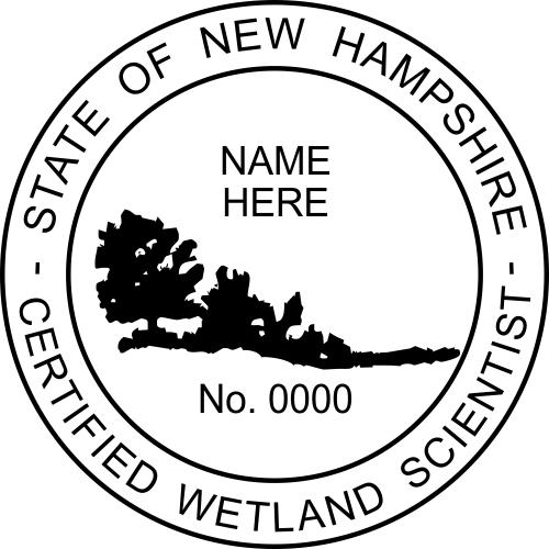 New Hampshire Wetland Scientist Stamp Seal