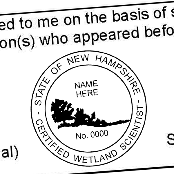 State of New Hampshire Wetland Scientist Seal Imprint