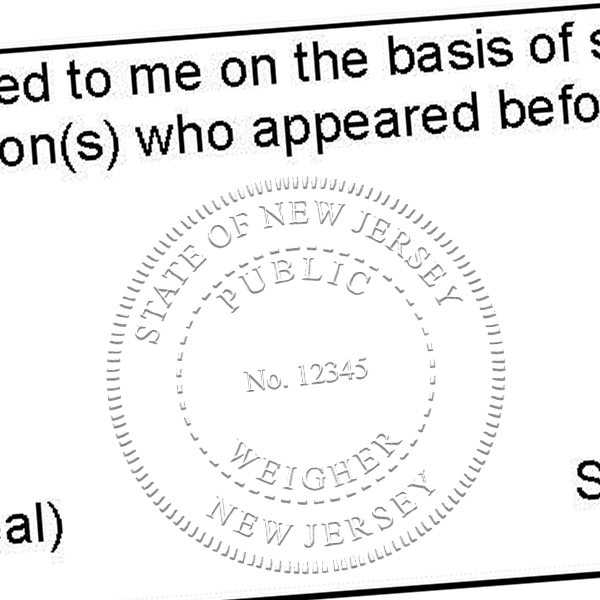State of New Jersey Public Weigher Seal Imprint