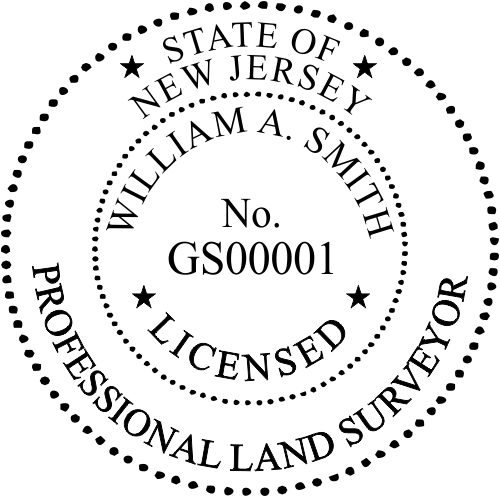 New Jersey Surveyor Seal