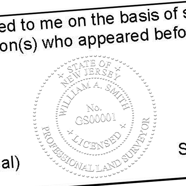 State of New Jersey Surveyor Seal Imprint