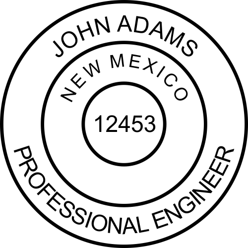 New Mexico Engineer Stamp Seal