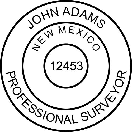 New Mexico Surveyor Stamp Seal