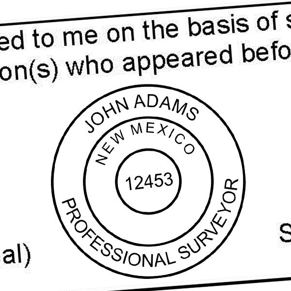 State of New Mexico Surveyor Seal Imprint